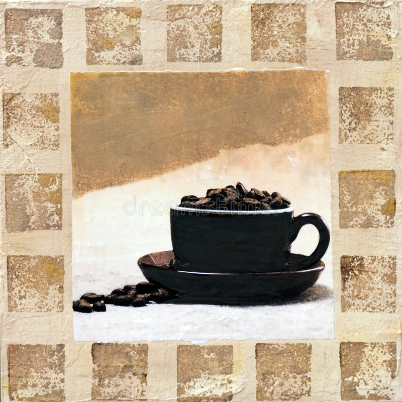 De Illustratie van de koffie royalty-vrije illustratie