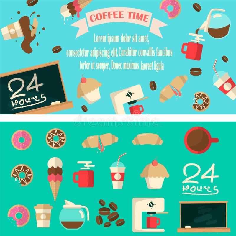 De illustratie van de koffietijd vector illustratie