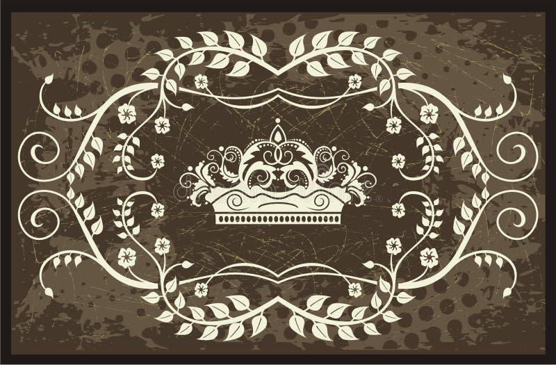 De illustratie van de kroon met wijnstokken vector illustratie