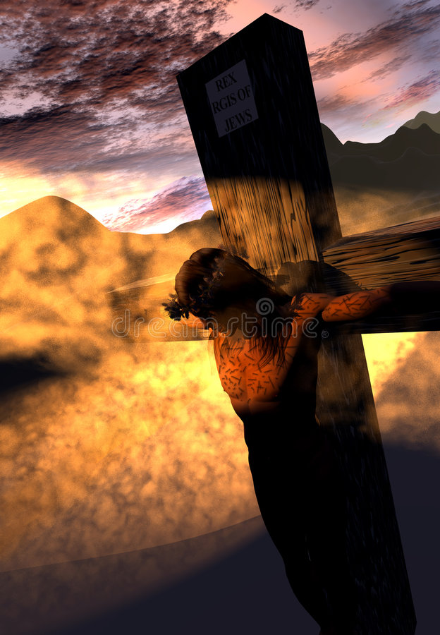 De illustratie van de kruisiging vector illustratie