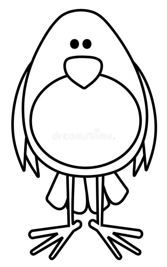 De Illustratie van de Kunst van de Lijn van de vogel vector illustratie