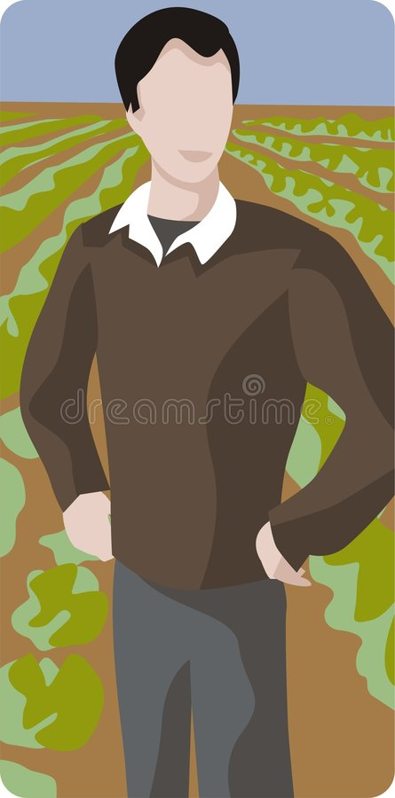De Illustratie van de landbouwer vector illustratie