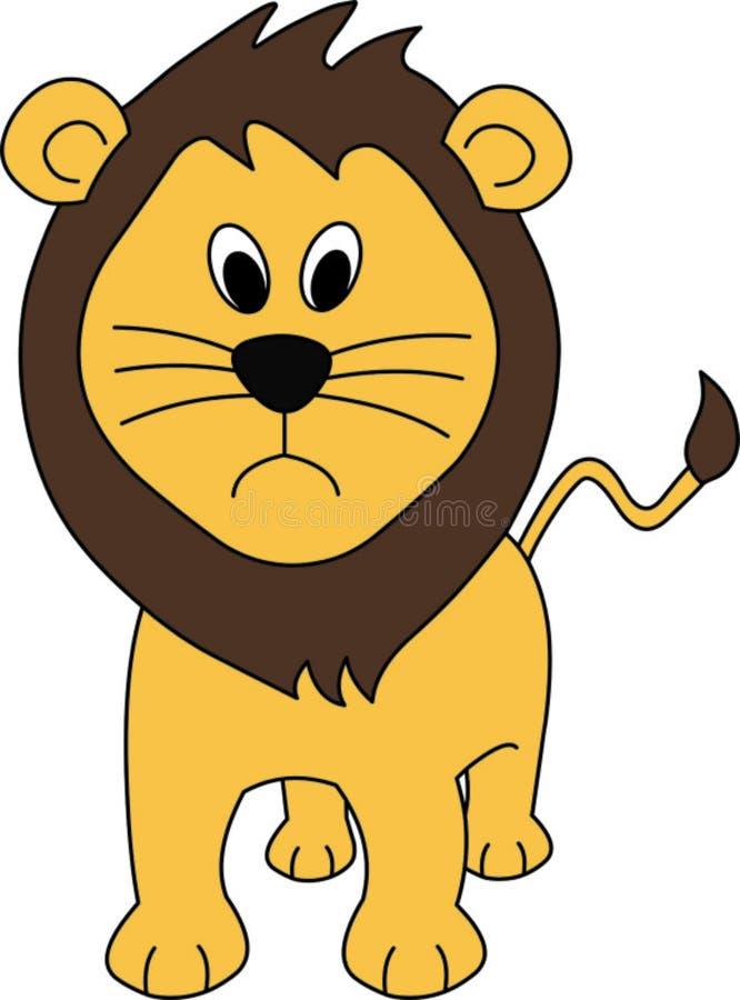 De Illustratie van de leeuw stock fotografie