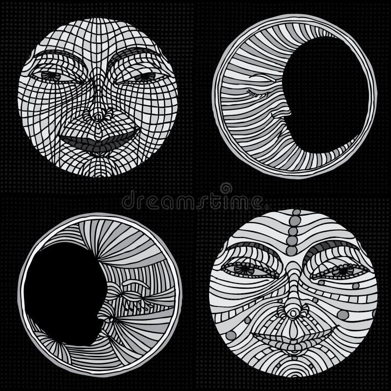De illustratie van de maan stock illustratie