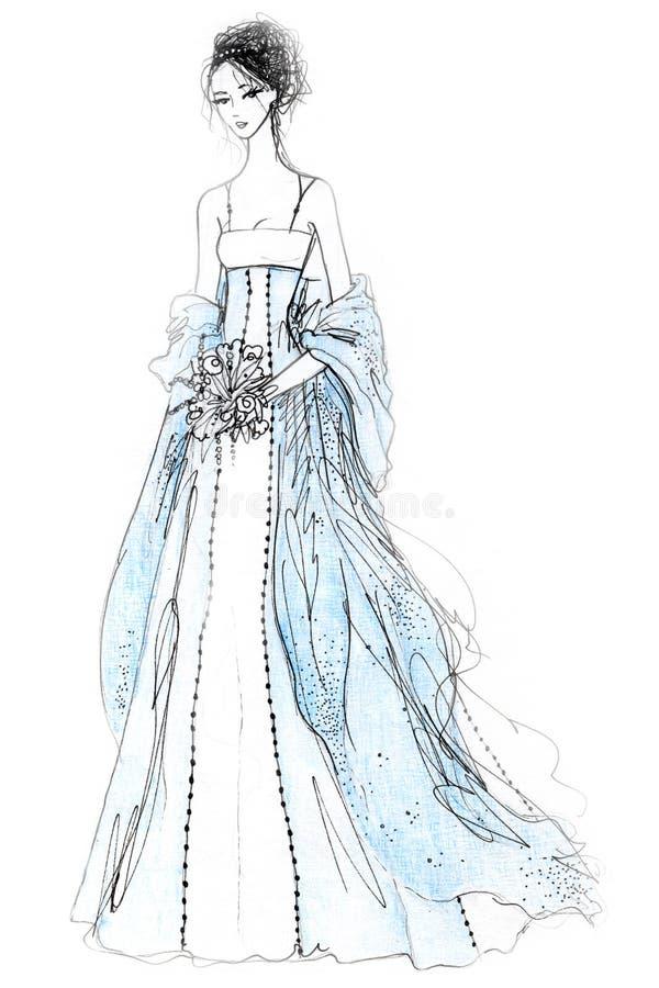 De Illustratie van de Manier van de bruid stock illustratie