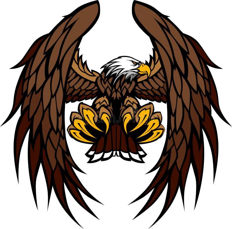 De Illustratie van de Mascotte van de Vleugels en van de Klauwen van de adelaar stock illustratie