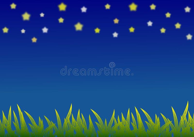 De illustratie van de nachthemel vector illustratie