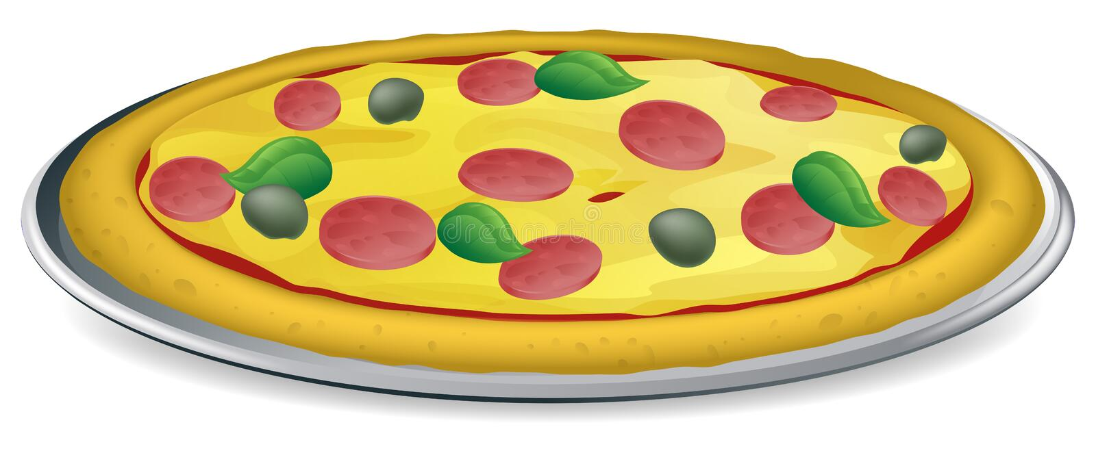 Download De Illustratie Van De Pizza Stock Foto - Afbeelding: 24168670