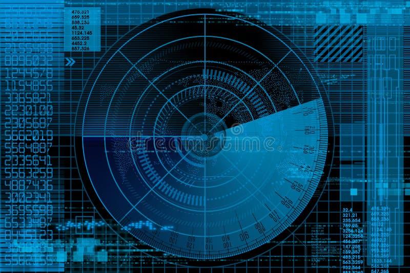De illustratie van de radar vector illustratie