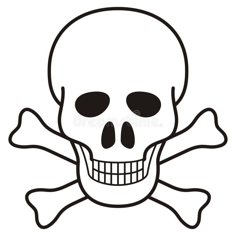 De illustratie van de schedel stock illustratie