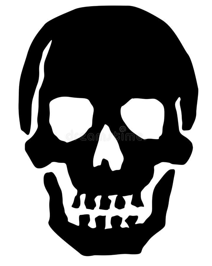 De Illustratie van de schedel royalty-vrije illustratie