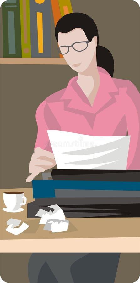 De Illustratie van de schrijver vector illustratie