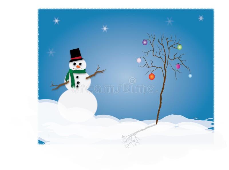 De illustratie van de sneeuwman royalty-vrije stock foto's