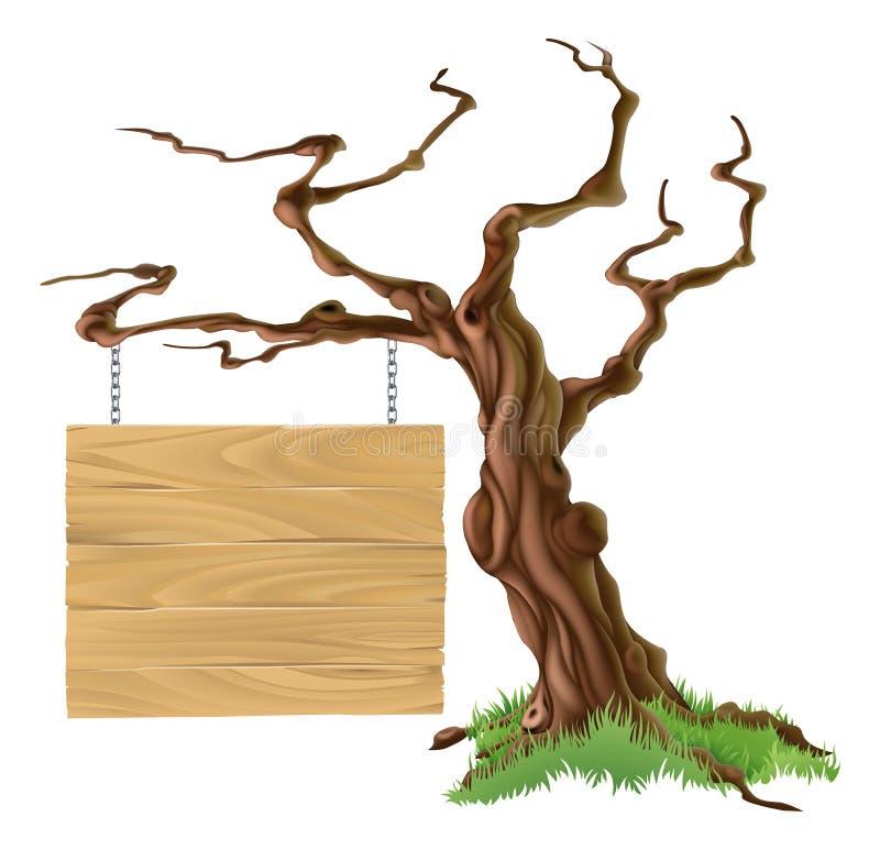 De Illustratie van de tekenboom royalty-vrije illustratie