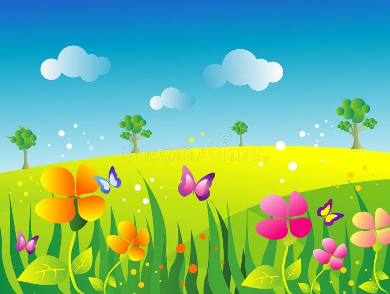 De illustratie van de tuin royalty-vrije illustratie