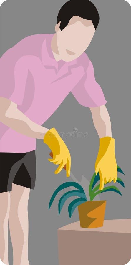 De Illustratie van de tuinman vector illustratie