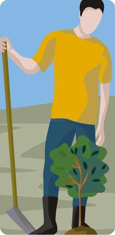 De Illustratie van de tuinman royalty-vrije illustratie