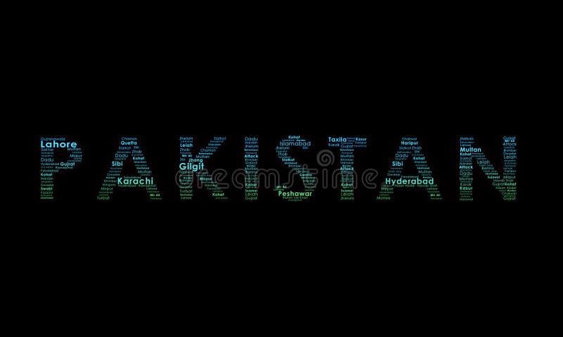 De Illustratie van de Typografie van Pakistan stock afbeeldingen