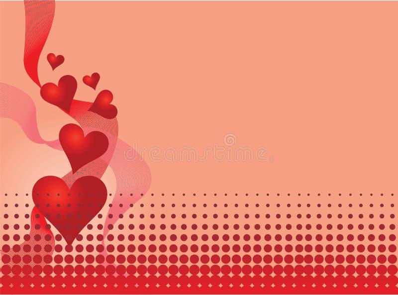 De illustratie van de valentijnskaart stock illustratie