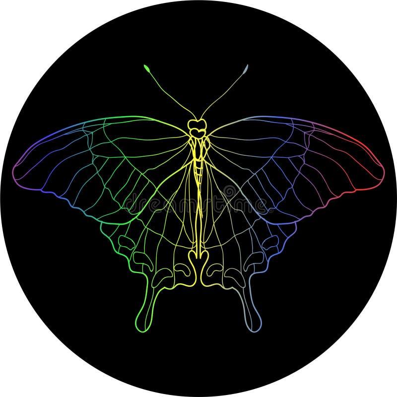 De Illustratie van de vlinderkleur stock fotografie