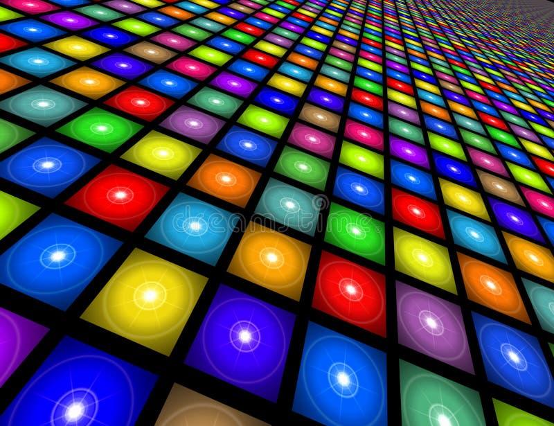 De Illustratie van de Vloer van de disco stock illustratie