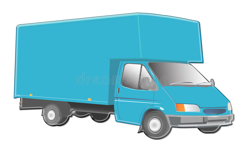 De illustratie van de vrachtwagen vector illustratie