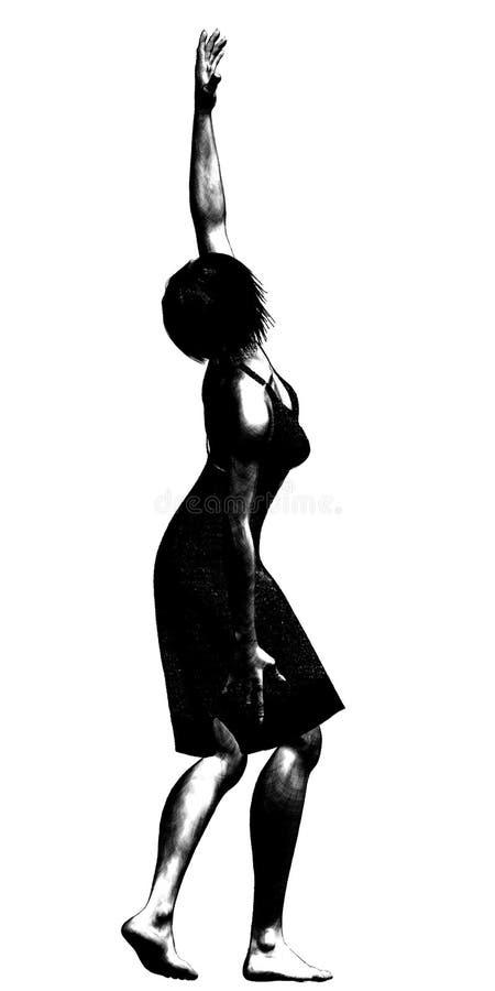 De Illustratie van de vrouw vector illustratie