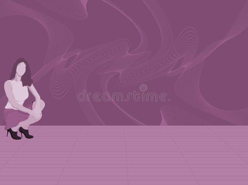 De illustratie van de vrouw stock illustratie