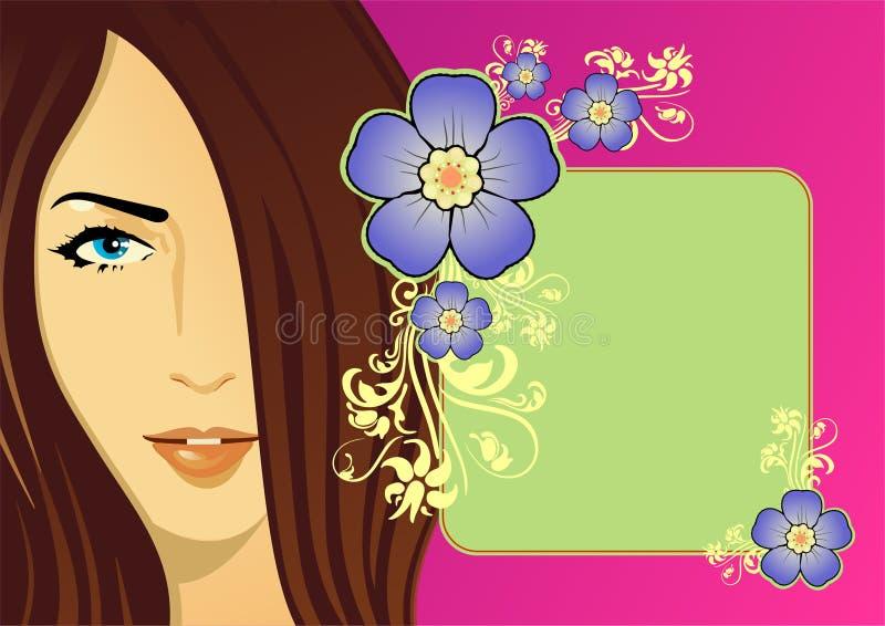 De illustratie van de vrouw royalty-vrije illustratie