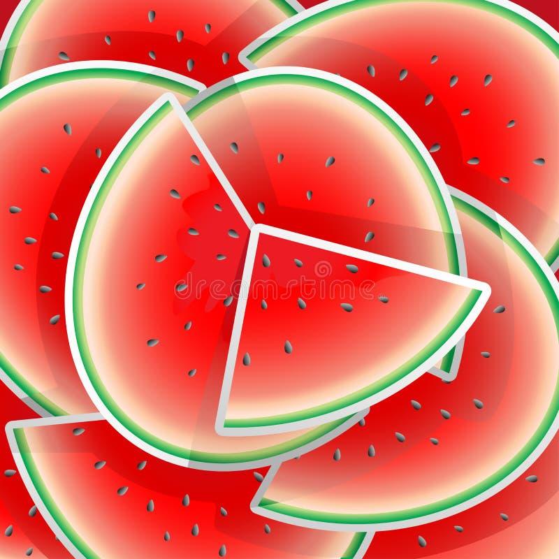 De illustratie van de watermeloen vector illustratie