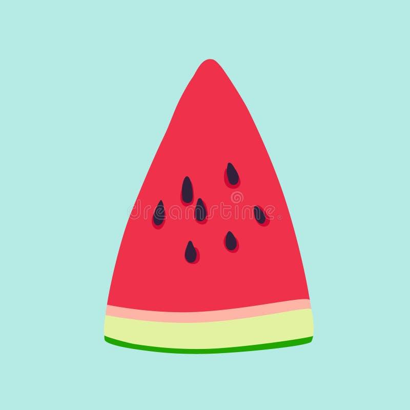 De illustratie van de watermeloenplak royalty-vrije illustratie