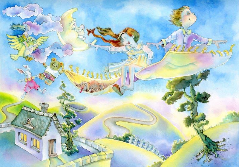 De illustratie van de waterverf royalty-vrije stock afbeeldingen