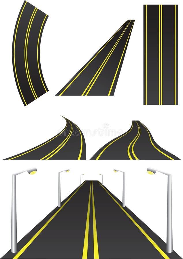 De illustratie van de weg stock illustratie