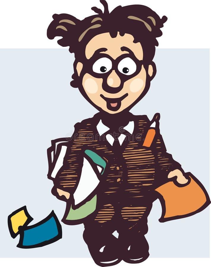 De illustratie van de werknemer royalty-vrije illustratie