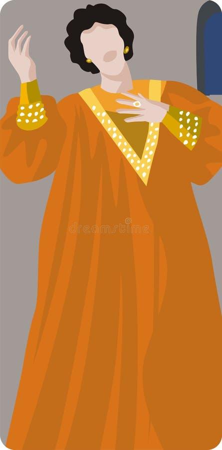 De Illustratie van de Zanger van de opera royalty-vrije illustratie