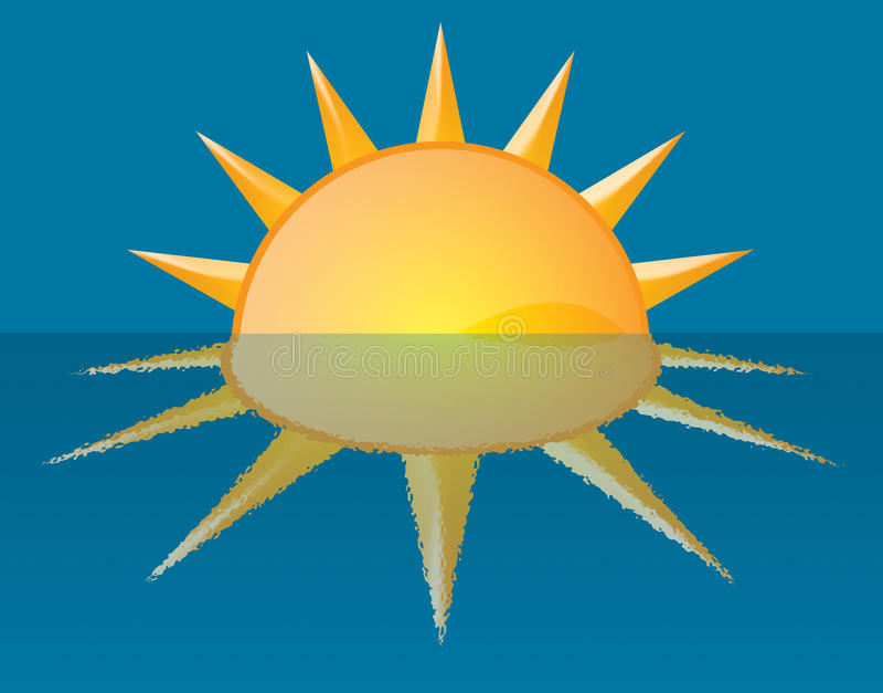 De Illustratie van de Zonsondergang van de zonsopgang