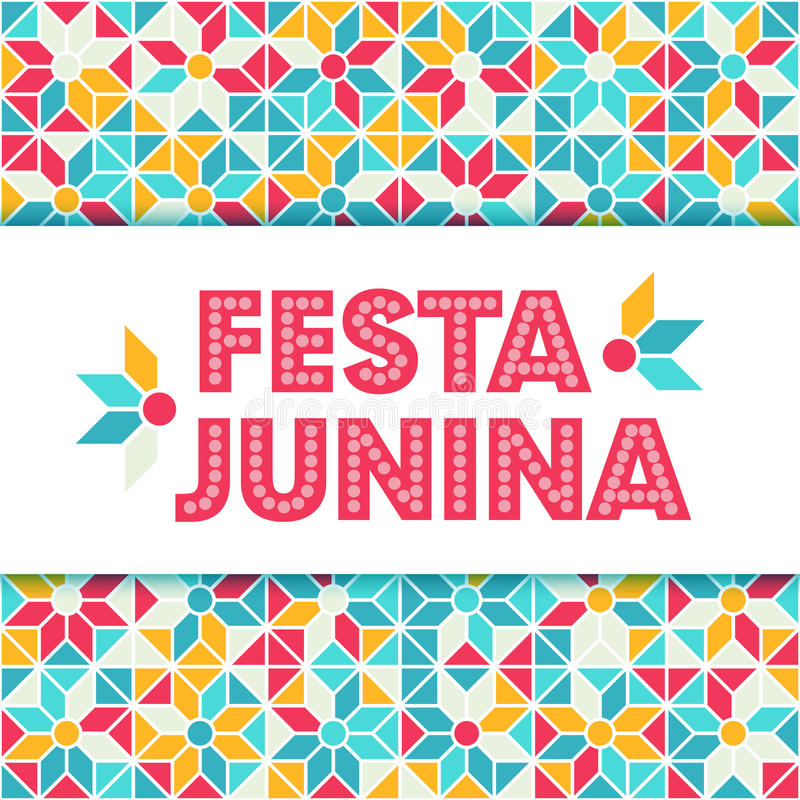 De illustratie van Festajunina - het festival van Brazilië juni vector illustratie
