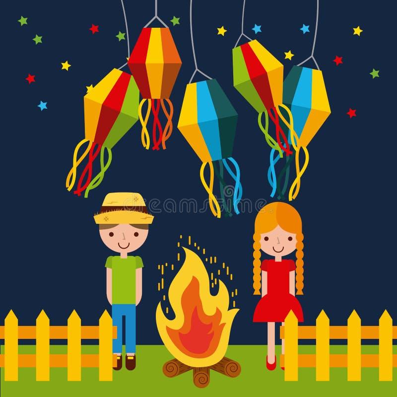 De illustratie van festiviteitenjuni royalty-vrije illustratie