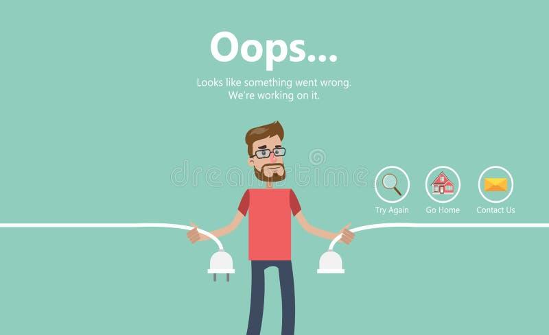 De illustratie van de foutenpagina stock illustratie