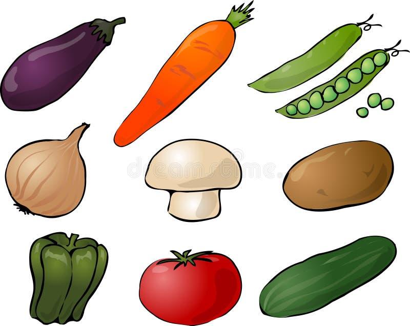 De illustratie van groenten stock illustratie