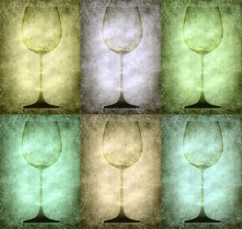 De illustratie van Grunge met glazen royalty-vrije illustratie