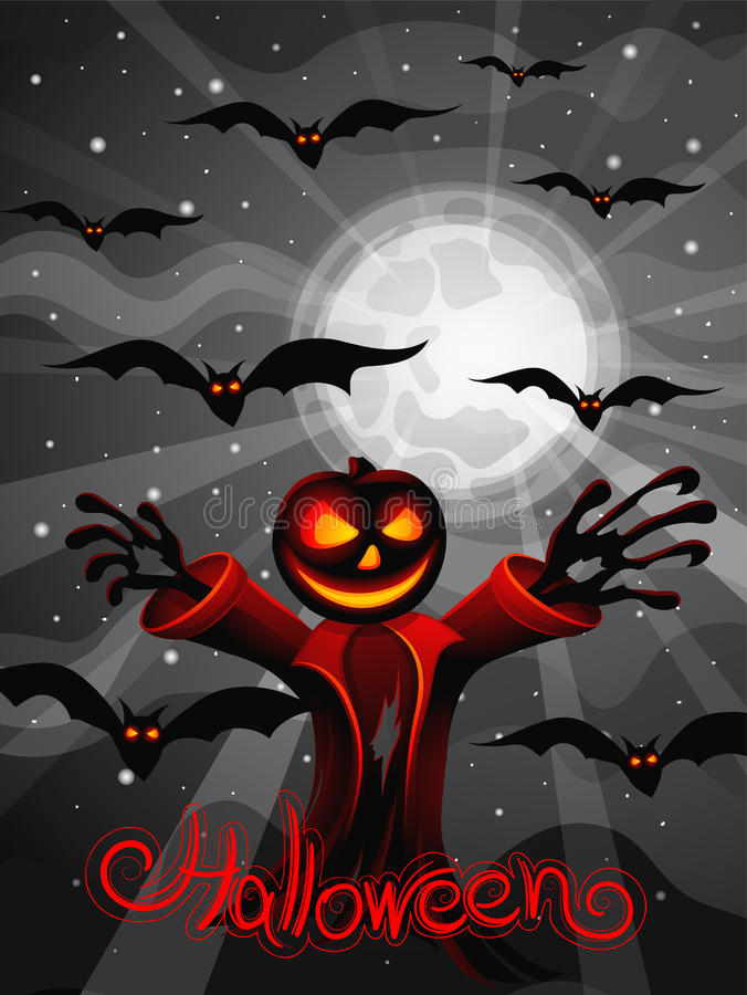 De illustratie van Halloween stock illustratie