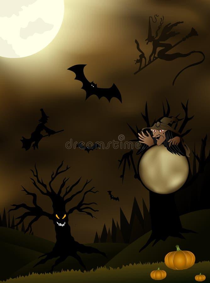 De Illustratie van Halloween van de schemering royalty-vrije illustratie