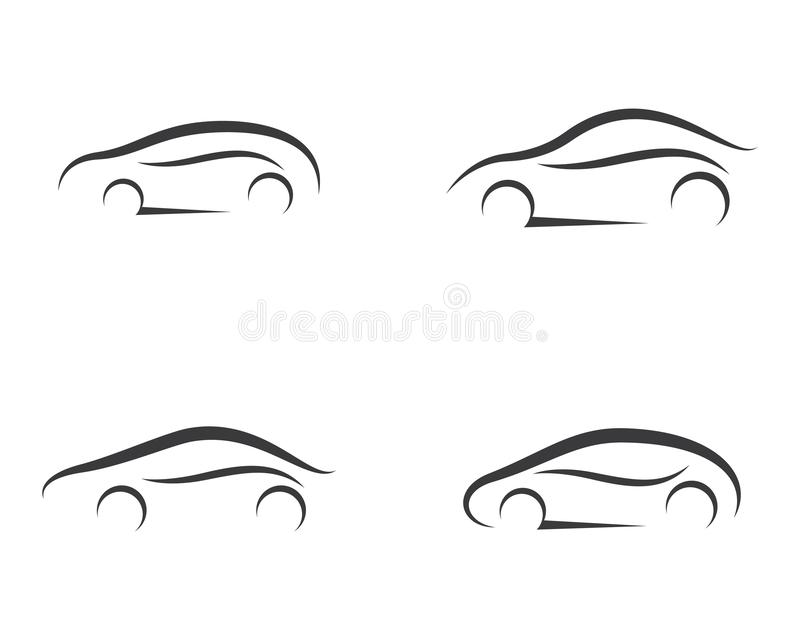 De illustratie van het autosymbool stock illustratie