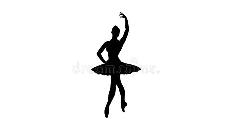 De illustratie van het ballerinasilhouet royalty-vrije illustratie