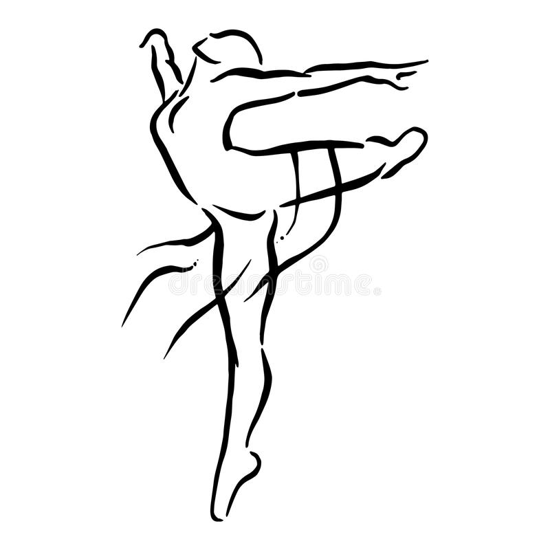 De illustratie van het ballet dancer stock foto