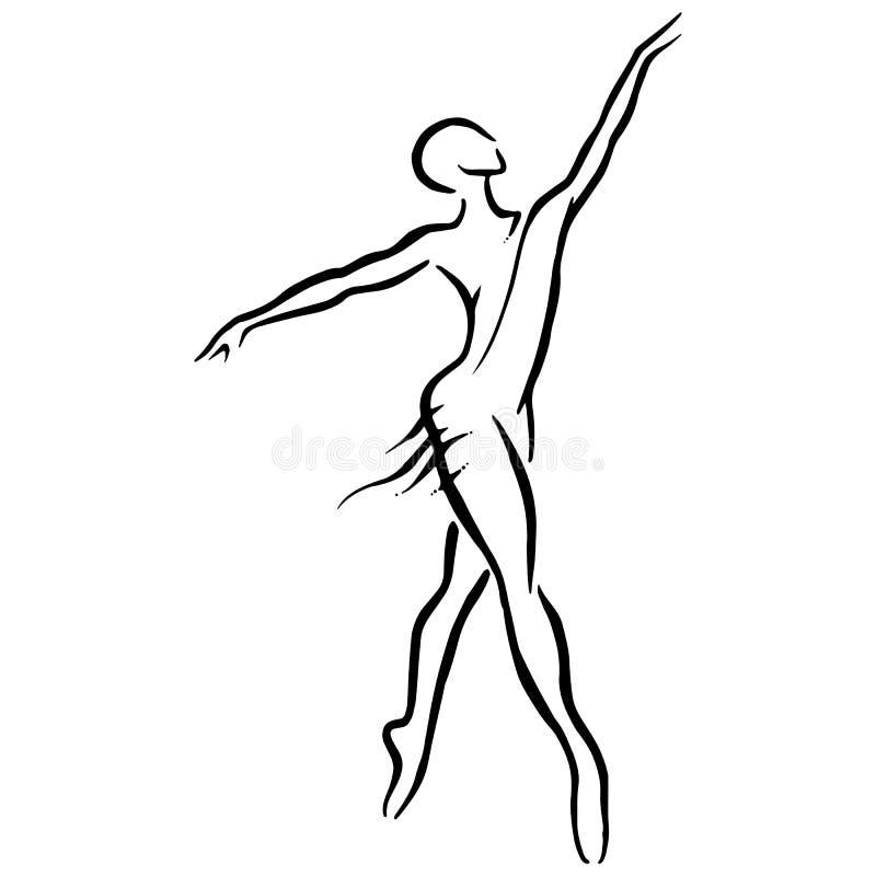De illustratie van het ballet dancer stock illustratie