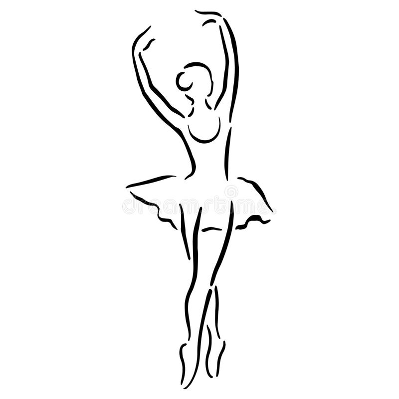 De illustratie van het ballet dancer stock illustratie