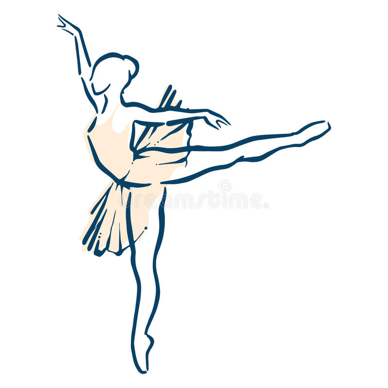 De illustratie van het ballet dancer vector illustratie
