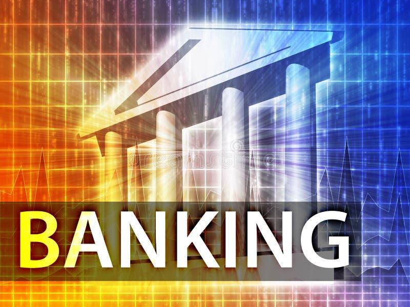 De illustratie van het bankwezen vector illustratie
